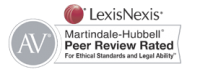 "LexisNexis Martindale - Hubbard ""Peer Review Rated"" logo and link"